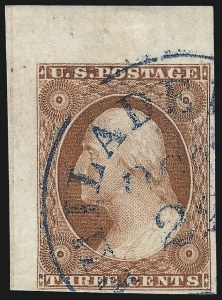 Sale Number 1024, Lot Number 33, 3c 1851-56 Issue (Scott 10-11A)3c Orange Brown, Ty. II (10A), 3c Orange Brown, Ty. II (10A)
