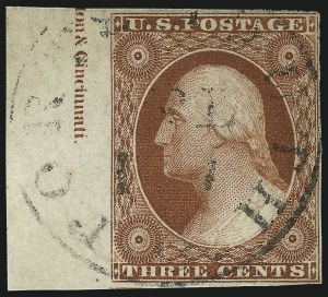 Sale Number 1024, Lot Number 34, 3c 1851-56 Issue (Scott 10-11A)3c Orange Brown, Ty. II (10A), 3c Orange Brown, Ty. II (10A)