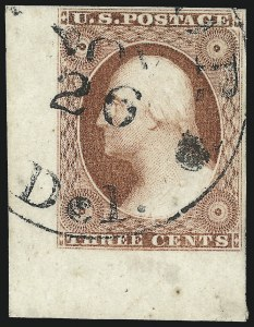 Sale Number 1024, Lot Number 39, 3c 1851-56 Issue (Scott 10-11A)3c Dull Red, Ty. II (11A), 3c Dull Red, Ty. II (11A)