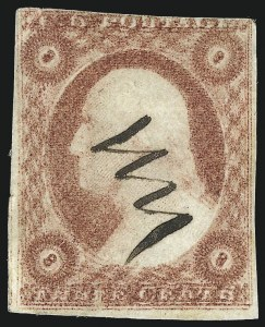 Sale Number 1024, Lot Number 41, 3c 1851-56 Issue (Scott 10-11A)3c Rose Red, Ty. II, Double Impression (11Ae), 3c Rose Red, Ty. II, Double Impression (11Ae)