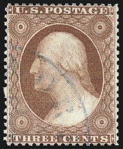 Sale Number 1024, Lot Number 63, 3c 1857-60 Issue (Scott 25-26A)3c Rose, Ty. I (25), 3c Rose, Ty. I (25)