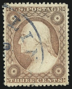 Sale Number 1024, Lot Number 65, 3c 1857-60 Issue (Scott 25-26A)3c Dull Red, Ty. III (26), 3c Dull Red, Ty. III (26)
