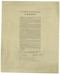 Sale Number 1025, Lot Number 108A, 1861-66 IssueThe Emancipation Proclamation, The Emancipation Proclamation