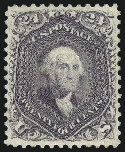 Sale Number 1025, Lot Number 109, 1861-66 Issue cont. thru Re-Issue24c Violet, Thin Paper (70c), 24c Violet, Thin Paper (70c)