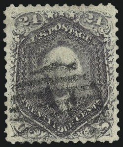 Sale Number 1025, Lot Number 110, 1861-66 Issue cont. thru Re-Issue24c Violet, Thin Paper (70c), 24c Violet, Thin Paper (70c)