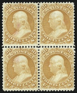 Sale Number 1025, Lot Number 111, 1861-66 Issue cont. thru Re-Issue30c Orange (71), 30c Orange (71)