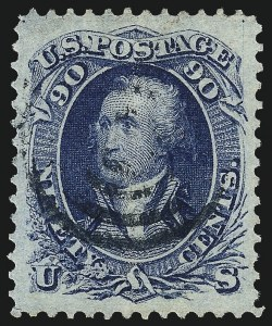 Sale Number 1025, Lot Number 112, 1861-66 Issue cont. thru Re-Issue90c Blue (72), 90c Blue (72)