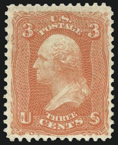 Sale Number 1025, Lot Number 115, 1861-66 Issue cont. thru Re-Issue3c Scarlet (74), 3c Scarlet (74)