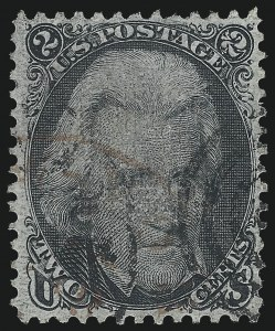 Sale Number 1025, Lot Number 117, 1861-66 Issue cont. thru Re-Issue2c Black, D. Grill (84), 2c Black, D. Grill (84)