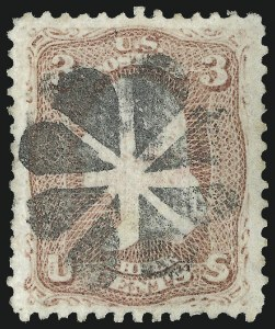 Sale Number 1025, Lot Number 118, 1861-66 Issue cont. thru Re-Issue3c Rose, Z. Grill (85C), 3c Rose, Z. Grill (85C)