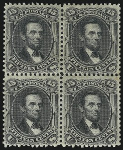 Sale Number 1025, Lot Number 120, 1861-66 Issue cont. thru Re-Issue15c Black, E. Grill (91), 15c Black, E. Grill (91)