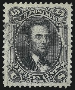Sale Number 1025, Lot Number 121, 1861-66 Issue cont. thru Re-Issue15c Black, F. Grill (98), 15c Black, F. Grill (98)