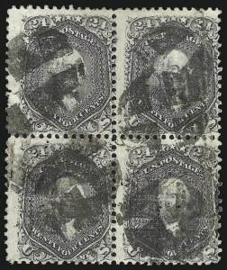Sale Number 1025, Lot Number 122, 1861-66 Issue cont. thru Re-Issue24c Gray Lilac, F. Grill (99), 24c Gray Lilac, F. Grill (99)