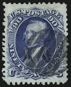 Sale Number 1025, Lot Number 123, 1861-66 Issue cont. thru Re-Issue90c Blue, F. Grill (101), 90c Blue, F. Grill (101)