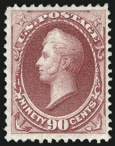 Sale Number 1025, Lot Number 168, 1870-88 Bank Note Issues, including Scott 20490c Carmine, Grill (144), 90c Carmine, Grill (144)