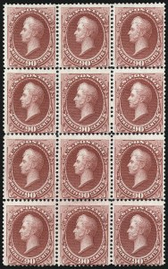 Sale Number 1025, Lot Number 170, 1870-88 Bank Note Issues, including Scott 20490c Carmine (155), 90c Carmine (155)