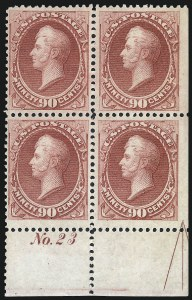 Sale Number 1025, Lot Number 172, 1870-88 Bank Note Issues, including Scott 20490c Rose Carmine (166), 90c Rose Carmine (166)