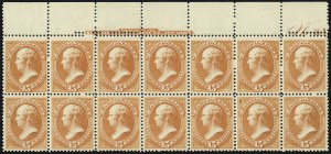 Sale Number 1025, Lot Number 174, 1870-88 Bank Note Issues, including Scott 20415c Red Orange (189), 15c Red Orange (189)