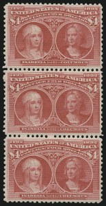 Sale Number 1025, Lot Number 191, Columbian Issue$4.00 Rose Carmine, Columbian (244a), $4.00 Rose Carmine, Columbian (244a)