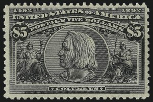 Sale Number 1025, Lot Number 192, Columbian Issue$5.00 Columbian (245), $5.00 Columbian (245)