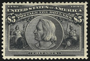 Sale Number 1025, Lot Number 193, Columbian Issue$5.00 Columbian (245), $5.00 Columbian (245)