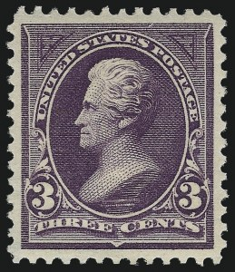 Sale Number 1025, Lot Number 196, 1894-98 Bureau Issue thru Trans-Mississippi Issue3c Purple (268), 3c Purple (268)
