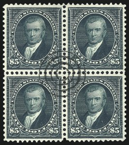 Sale Number 1025, Lot Number 197, 1894-98 Bureau Issue thru Trans-Mississippi Issue$5.00 Dark Green (278), $5.00 Dark Green (278)