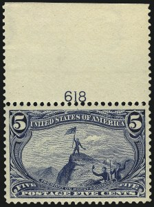 Sale Number 1025, Lot Number 199, 1894-98 Bureau Issue thru Trans-Mississippi Issue5c Trans-Mississippi (288), 5c Trans-Mississippi (288)