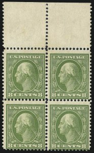 Sale Number 1025, Lot Number 216, 1902-08 Issue thru Bluish Paper8c Olive Green, Bluish (363), 8c Olive Green, Bluish (363)