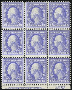 Sale Number 1025, Lot Number 217, 1902-08 Issue thru Bluish Paper15c Pale Ultramarine, Bluish (366), 15c Pale Ultramarine, Bluish (366)