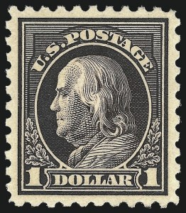 Sale Number 1025, Lot Number 225, Washington-Franklin and Panama Pacific Issues$1.00 Violet Black (460), $1.00 Violet Black (460)