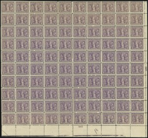 Sale Number 1025, Lot Number 233, Washington-Franklin and Panama Pacific Issues3c Light Reddish Violet (537b), 3c Light Reddish Violet (537b)