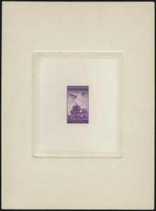 Sale Number 1025, Lot Number 241, Later Issues3c Bright Purple, Iwo Jima Large Die Trial Color Proof (929TC1ae), 3c Bright Purple, Iwo Jima Large Die Trial Color Proof (929TC1ae)