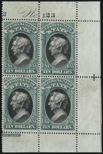 Sale Number 1025, Lot Number 261, Air Post thru Parcel Post$10.00 State (O70), $10.00 State (O70)