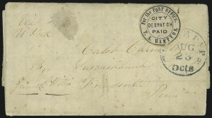 Sale Number 1025, Lot Number 270, Carriers and Locals thru RevenuesT. A. Hampton City Despatch, Philadelphia Pa., (2c) Black (77L1), T. A. Hampton City Despatch, Philadelphia Pa., (2c) Black (77L1)