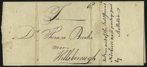 Sale Number 1025, Lot Number 3, Colonial Period and Western ExpressWilmington N.C. to Hillsborough N.C., Sep. 1, 1773, Wilmington N.C. to Hillsborough N.C., Sep. 1, 1773