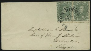Sale Number 1025, Lot Number 303, Confederate States5c Green, Stone 2, Baton Rouge Roulette (1 var), 5c Green, Stone 2, Baton Rouge Roulette (1 var)