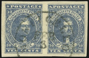 Sale Number 1025, Lot Number 304, Confederate States10c Dark Blue, Hoyer & Ludwig (2b), 10c Dark Blue, Hoyer & Ludwig (2b)