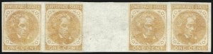 Sale Number 1025, Lot Number 307, Confederate States1c Orange, Trial Color Plate Proof on Wove (14TC5), 1c Orange, Trial Color Plate Proof on Wove (14TC5)