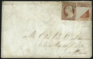 Sale Number 1025, Lot Number 313, Hawaii, Philippines1853, 13c Dark Red, Thick White Wove (6), 1853, 13c Dark Red, Thick White Wove (6)