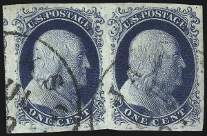 Sale Number 1025, Lot Number 72, 1851-56 Issue1c Blue, Ty. II (7), 1c Blue, Ty. II (7)