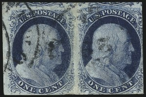 Sale Number 1025, Lot Number 73, 1851-56 Issue1c Blue, Ty. III, Position 99R2 (8), 1c Blue, Ty. III, Position 99R2 (8)