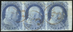 Sale Number 1025, Lot Number 75, 1851-56 Issue1c Blue, Ty. II-II-IIIa (7-7-8A), 1c Blue, Ty. II-II-IIIa (7-7-8A)