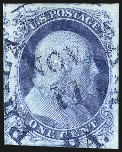 Sale Number 1025, Lot Number 76, 1851-56 Issue1c Blue, Ty. IIIa (8A), 1c Blue, Ty. IIIa (8A)