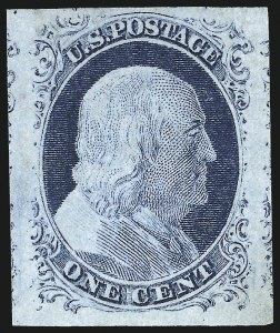 Sale Number 1025, Lot Number 78, 1851-56 Issue1c Blue, Ty. IV (9), 1c Blue, Ty. IV (9)