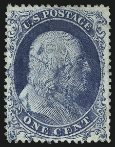 Sale Number 1025, Lot Number 86, 1857-60 Issue and Reprints1c Blue, Ty. Ia (19), 1c Blue, Ty. Ia (19)