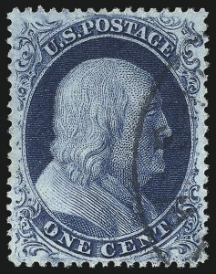 Sale Number 1025, Lot Number 89, 1857-60 Issue and Reprints1c Blue, Ty. IIIa (22), 1c Blue, Ty. IIIa (22)