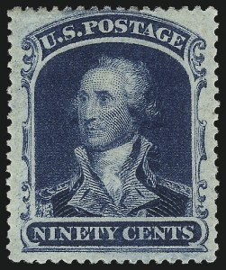 Sale Number 1025, Lot Number 98, 1857-60 Issue and Reprints90c Blue (39), 90c Blue (39)