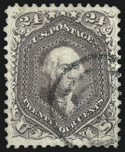 Sale Number 1026, Lot Number 1212, 1861-66 Issue (Scott 56-76)24c Red Lilac (70), 24c Red Lilac (70)