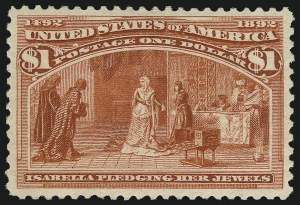 Sale Number 1026, Lot Number 1317, 1893 Columbian Issue (Scott 230-245)$1.00 Columbian (241), $1.00 Columbian (241)
